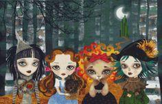 Cross stitch modern art by Sandra Vargas 'Oz Girls' - Wizard of Oz cross stitch kit @ Modstitch.co.nz