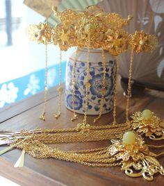 Chinese Empress Phoenix Hair Accessories Comb Fascinators Headbands Bridal…
