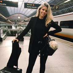 """Natasha Oakley on Instagram: """"This is one of those """"I'm secretly dying and out of breath but smiling for the camera"""" photos Got in some serious cardio because I almost missed my train but am now on the way to Paris! """""""