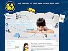 Layout de Site Criado para a Escola Infantil Roberto Norio #criative #sites #criacaodesites #escola #colegio #agencia www.visiondesign.com.br