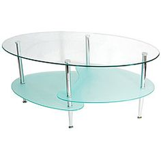 @Overstock - Stylish and contemporary coffee table features elegant curved lines  Glass table offers three levels of glass combined with chrome metal legs  Wave table contains beautiful frosted glass lower shelvinghttp://www.overstock.com/Home-Garden/Modern-38-inch-Wave-Coffee-Table/3456990/product.html?CID=214117 $100.99