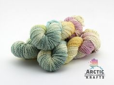 Spring Sensation hand dyed chunky weight thick & by Arctickrafts                                                                                                                                                                                 More