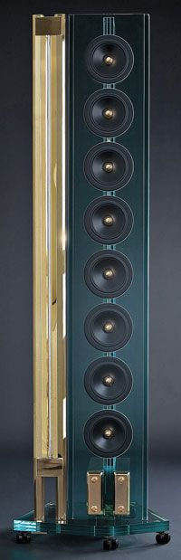 Perfect8 Shatters Wallet with $566,000 Glass Speaker System | Ultra High-End Audio and Home Theater Review High End Speakers, High End Hifi, Best Speakers, High End Audio, Audiophile Speakers, Hifi Audio, Stereo Speakers, Tower Speakers, Audio Design
