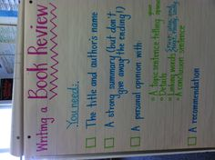 Book review anchor chart