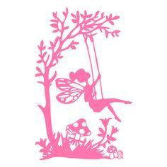 Silhouette Design Store - View Design #141179: garden fairy swing