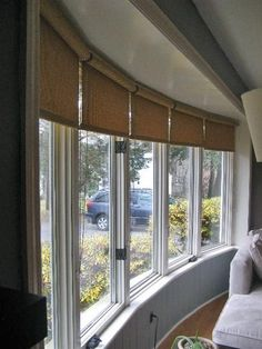 Window Covering Ideas for a Large Bow Window?