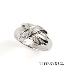 Tiffany & Co. 18k Schlumberger X Ring Size 53  http://www.richdiamonds.com/product/tiffany-co.-18k-schlumberger-x-ring-size-53/2432