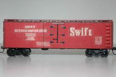 HO SCALE CUSTOM WOODEN SWIFT REFRIGERATOR LINE 33' SINGLE DOOR REEFER #4296
