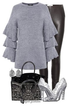 Wear it in a Ruffles by rosipolooyas on Polyvore featuring moda, Maison Margiela, Dolce&Gabbana, Yves Saint Laurent and Alex Monroe