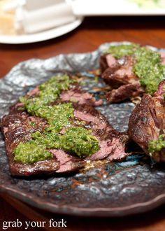 sous vide chuck steak with salsa verde