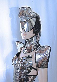 warrior scifi shoulder pads ,  shoulder armour , futuristic shoulder cuffs , epaulets