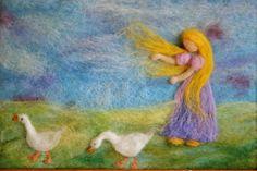 Waldorf inspired needle felted Fairy Tale/ Wool door MagicWool
