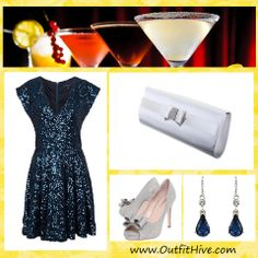 Going for Cocktails? Here is an outfit for inspiration.   You can upload your look to today's topic #Cocktails on our website.   www.OutfitHive.com  #Dress #NightOut #Party #OOTD #Style