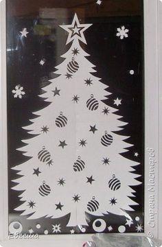 Картина панно рисунок Новый год Вырезание Новогоднее 2015 Бумага фото 10
