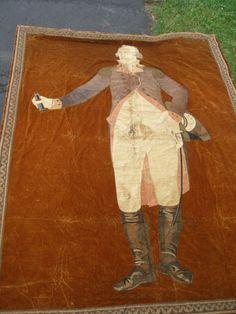 Antique-textile-needle-point-tapestry-of-George-Washington