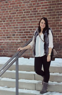 Outfit: Fur Vest & Uggs | Love and Fashion - A Personal Lifestyleblog