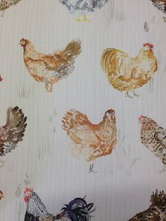 Chickens Wallpaper by Voyage 'Country' Wall Art - available at Cotton Tree Interiors UK (+44)1728 604700