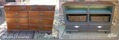 craigslist dresser transformation before and after...changing table