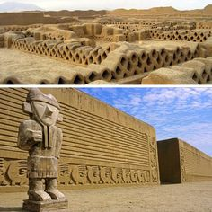 Chan-Chan, Peru  As the world's climate changes, the rains are disolving this ancient site