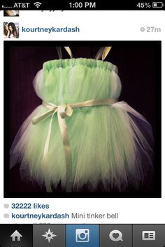 Tinker bell costume for baby DIY- my baby girl's first Halloween costume! Already calling it!