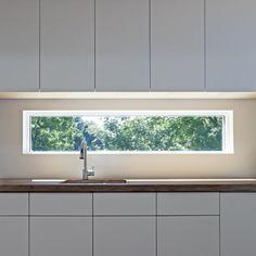 Narrow kitchen window idea!