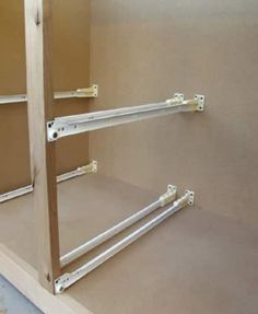 Rolling Shelves Do-It-Yourself Cabinet Pull-Outs for Kitchen, Bathroom, Closet, Storage or anywhere Kitchen Drawers, Kitchen Cabinetry, Kitchen Shelves, Kitchen Redo, Kitchen Pantry, Kitchen Storage, Kitchen Remodel, Closet Storage, Cabinet Closet