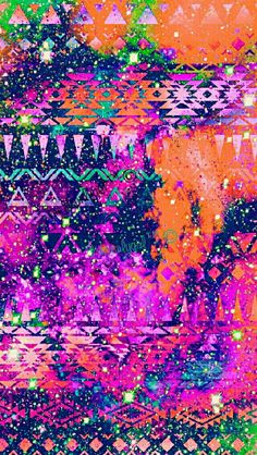 Aztec jungle grunge galaxy iPhone/Android wallpaper that I  created for the app CocoPPa!