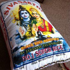 Rice sack cushion I am making #makedoandmend