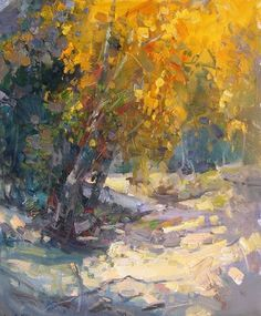 "Makarov Vitaly  ""Autumn Shade"" - oil, canvas http://www.russianfineart.co/catalog/prod.php?productid=19049:"