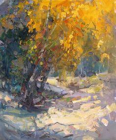 "Makarov Vitaly  ""Autumn Shade"" - oil, canvas http://www.russianfineart.co/catalog/prod.php?productid=19049:"