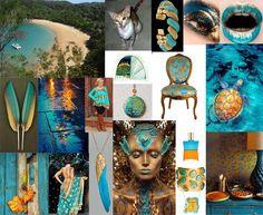 Julie Howlin Aura Soma Inspiration Equilibrium bottle #83 Open Sesame turquoise/gold