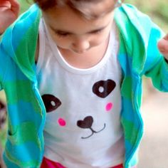 Create your own cute animal face t-shirt