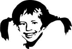Pippi Longstocking Stencil by ~myfriendjoshua on deviantART Silhouette Vinyl, Silhouette Portrait, Silhouette Cameo Projects, Pop Art Marilyn, Stencils, Stencil Art, Ozzy Tattoo, Graffiti, Pippi Longstocking