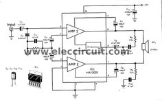 mini 40 watt audio car amplifier circuit using ha13001 pinterest rh pinterest com Home Audio Power Amplifier Schematics Stereo Amplifier Schematic