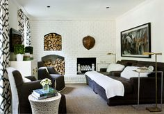Stern Turner Home - contemporary - living room - atlanta - by Erica George Dines Photography