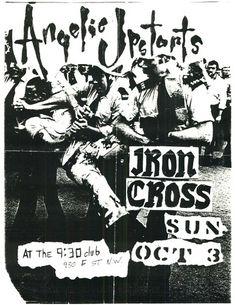 Angelic Upstarts, Iron Cross punk hardcore flyer