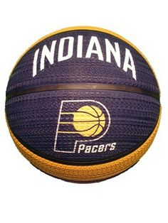 """Indiana Pacers tire thread full size basketball from Spalding is a rubber ball with the """"Indiana"""" wordmark and Pacers primary logo on both sides. Features a """"tire thread"""" like grip.  #FlairHair #ConceptOneAccessories"""