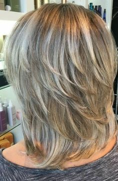 Hair cut and highlights Hair cut and highlights length hair cuts Medium Layered Haircuts, Medium Hair Cuts, Short Hair Cuts, Medium Hair Styles, Curly Hair Styles, Blonde Layered Hair, Brown Blonde, Shag Hairstyles, Simple Hairstyles