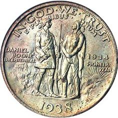 The Daniel Boone half dollar was a U. commemorative coin issued from 1934 to 1938 in honor of the bicentennial of Boone's birth. Rare Coins Worth Money, Valuable Coins, Gold Coins For Sale, American Coins, Coin Worth, Commemorative Coins, Gold Bullion, World Coins, Half Dollar