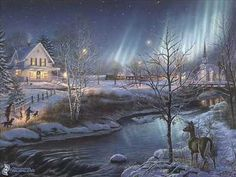 Winter images Thomas Kinkade Winter HD wallpaper and background
