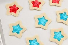 4th of July Stained Glass Cookies