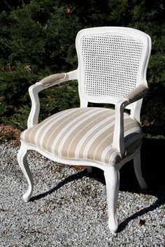 Louis XV style caned armchair by lagrangeds on Etsy, $325.00