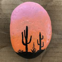 ✓ Best Painted Rocks Ideas, Weapon to Wreck Your Boring Time [Images] – Kevin M. Greer ✓ Best Painted Rocks Ideas, Weapon to Wreck Your Boring Time [Images] ^.^ Ooh, this is another good one. Super easy to make, but it looks artistic too. Pebble Painting, Pebble Art, Stone Painting, Diy Painting, Cactus Painting, Rock Painting Patterns, Rock Painting Ideas Easy, Rock Painting Designs, Sunset Painting Easy