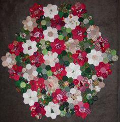 ProsperityStuff Quilts: Christmas Hexagons Layout