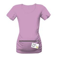 Těhotenské tričko s originálním potiskem Přijdu hned pro všechny budoucí maminky :-)