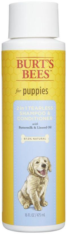 Burt's Bees Shampoo Puppy Shampoo (2 in 1) - Buttermilk & Honey - 16 oz