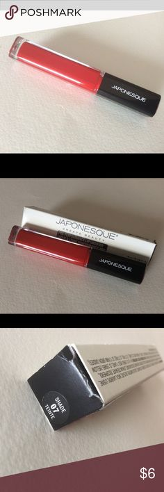 New Japonesque Pro Performance Lip Lacquer 07 Brand new, in box, never opened/never tested JAPONESQUE Pro Performance Lip Lacquer in Shade 07 (a nice, classic red). I don't wear lipstick or colored glosses, really.  I have seen tutorials using this product as a lip stain and blush.  BRAND NEW!  Bundle and save! Japonesque Makeup Lip Balm & Gloss