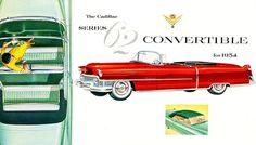 1954 Cadillac Series 62 Convertible - Promotional Advertising Poster