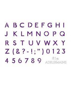 Pochoir Lettres et chiffres Royaume Uni (A6) ADEUXMAINS