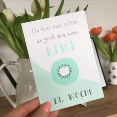 Meilensteinkarten für die Schwangerschaft - entdecke mehr auf www.mintkind.com